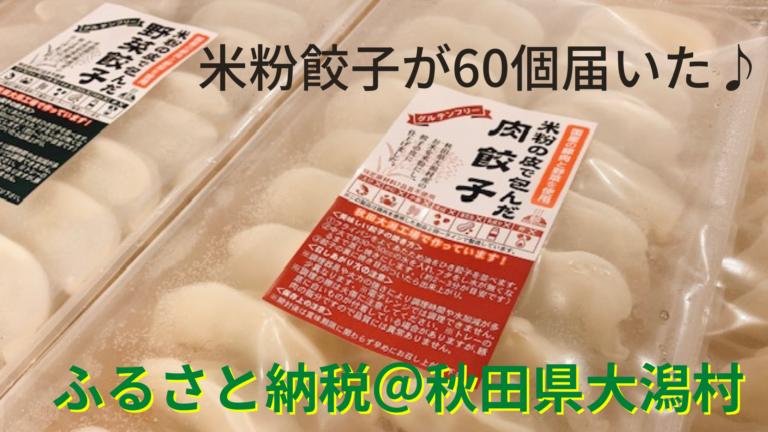 ふるさと納税ブログ:秋田県大潟村から米粉餃子60個が届いた!主婦の口コミ・レビュー