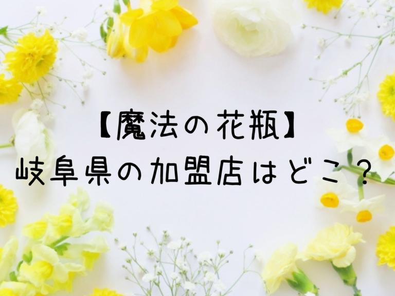 【魔法の花瓶】岐阜県の加盟店はどこ?お花のサブスクを低料金で楽しもう♪