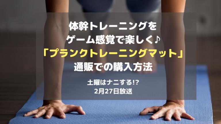 土曜は何する!_体幹を鍛えるプランクトレーニングマット通販での購入方法!2月27日放送